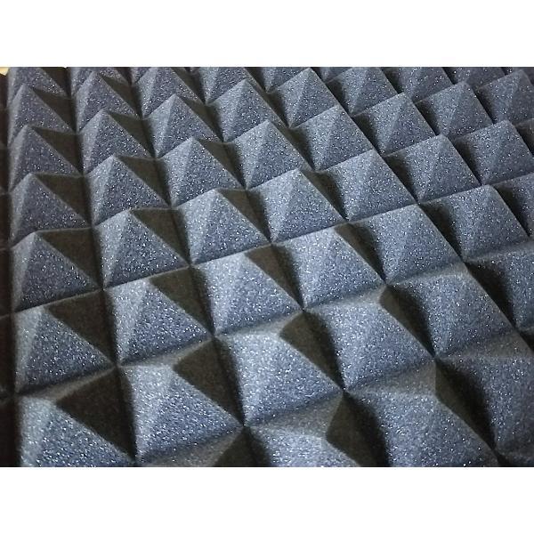 吸音 吸音材 スポンジ 凹凸 ピラミッド型 防音 ウレタン 50cm × 50cm × 5cm 5枚セット 防音対策 smile-all