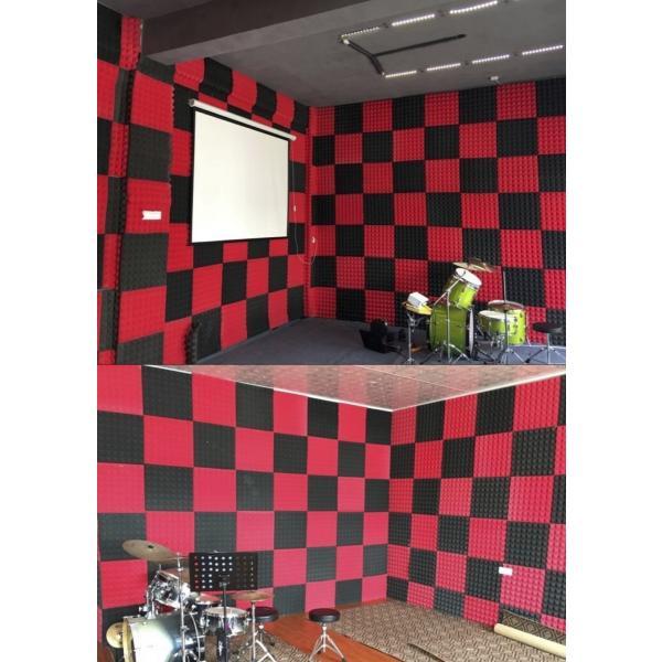 吸音 吸音材 スポンジ 凹凸 ピラミッド型 防音 ウレタン 50cm × 50cm × 5cm 5枚セット 防音対策 smile-all 07