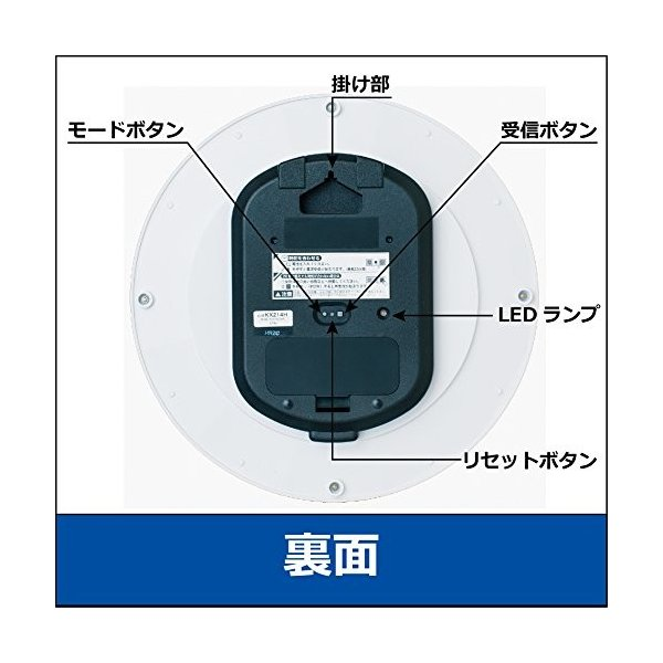セイコー クロック 掛け時計 電波 アナログ 白 パール KX214H SEIKO|smile-box|03