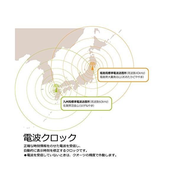 セイコー クロック 掛け時計 電波 アナログ 白 パール KX214H SEIKO|smile-box|06