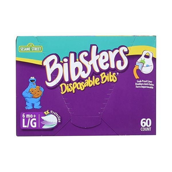 使い捨て防水加工よだれかけ60枚入 ビブスターSESAME STREET (クッキーモンスター) smile-box 02