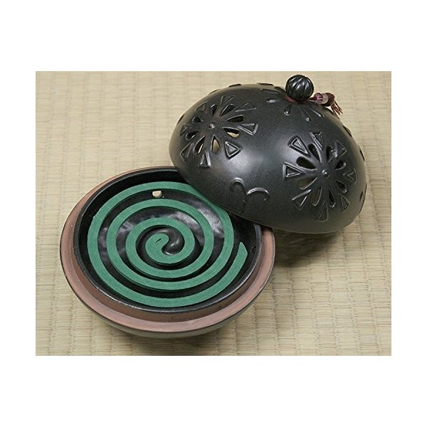 丸和貿易 アジアンテイスト クレマチス 陶器の蚊遣り 013398|smile-box|03
