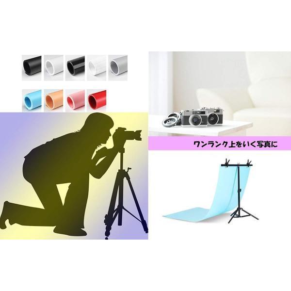 【iMakim's】 背景スタンド 小型 写真 商品撮影 背景紙 オークション 出品 小物 三脚|smile-box|08