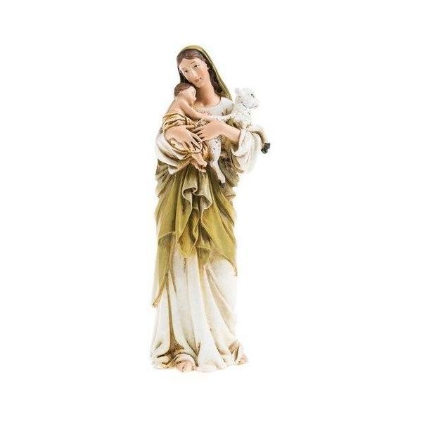 聖母マリア像 イエスと子羊を抱く聖母マリア像 キリスト教 クリスマス インテリア|smile-box