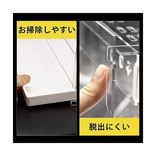 YOKITOMO ハムスターケージ 透明の二代目 ハムスターハウス トレーデザイン お掃除しやすい! 通気 2階デザイン 持ち運びやすい(緑セット) smile-box 02