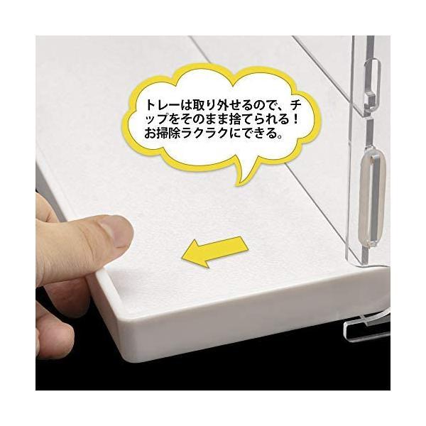 YOKITOMO ハムスターケージ 透明の二代目 ハムスターハウス トレーデザイン お掃除しやすい! 通気 2階デザイン 持ち運びやすい(緑セット) smile-box 05