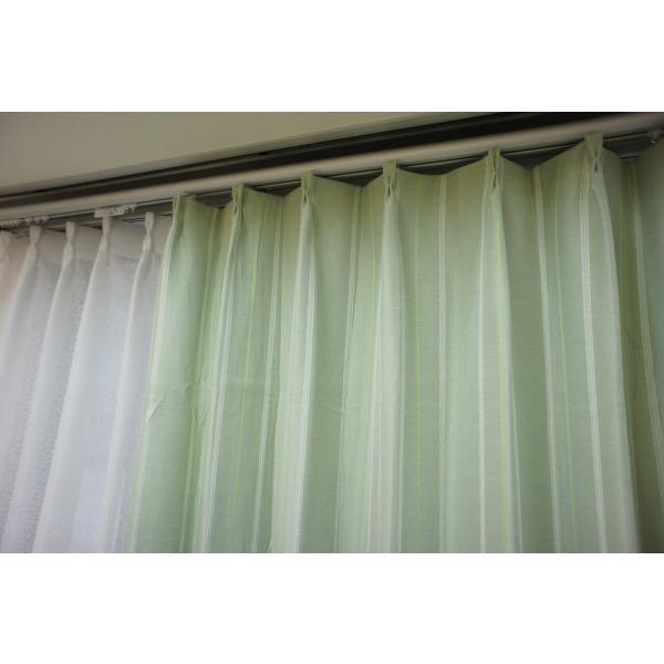 カーテン 厚地 遮光 緑系 カジュアル 形状記憶 ウォッシャブル|smile-curtain|04