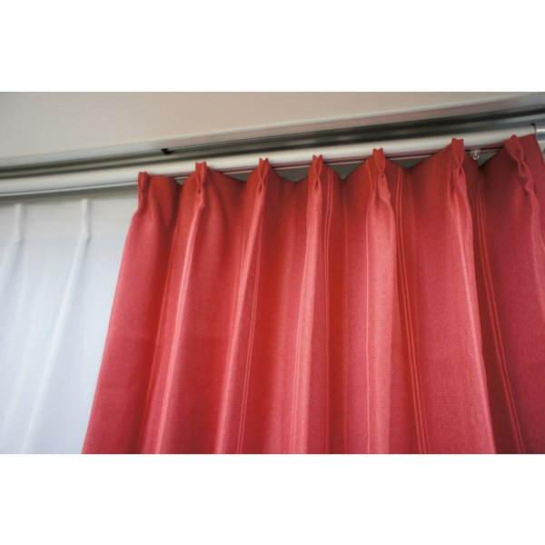 カーテン 厚地 遮光 赤系 かわいい 形状記憶 ウォッシャブル|smile-curtain|04