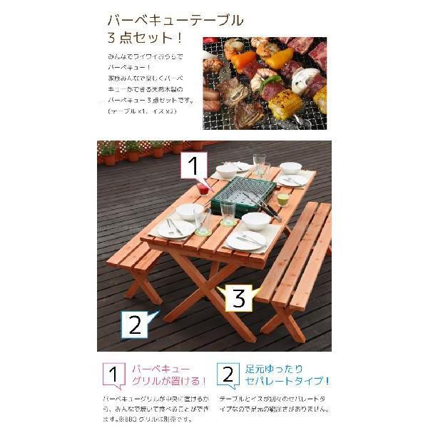 バーベキューテーブル3点セット 「BQT-140S」 「送料無料」 smile-hg 02