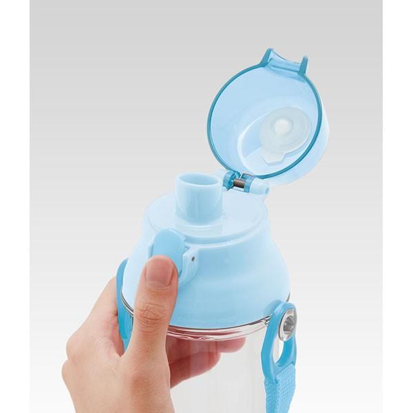 すみっコぐらし 子供用 水筒 / 食洗機対応 直飲み プラ製 ワンタッチクリアボトル 480ml すみっコおべんきょう|smile-hg|02