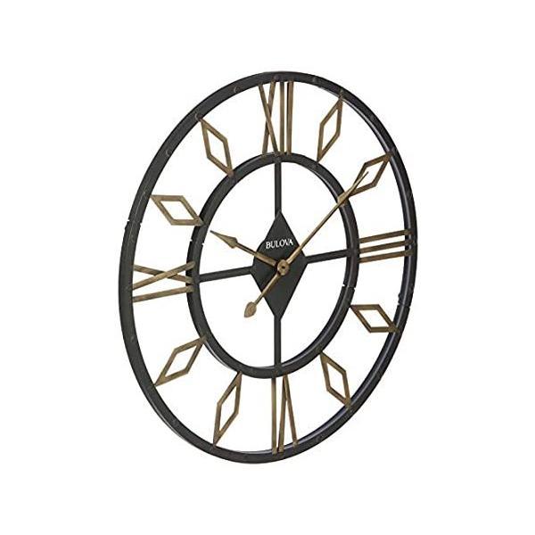 BulovaC4858ダイヤモンドギャラリー壁掛け時計エイジドブラック仕上げ