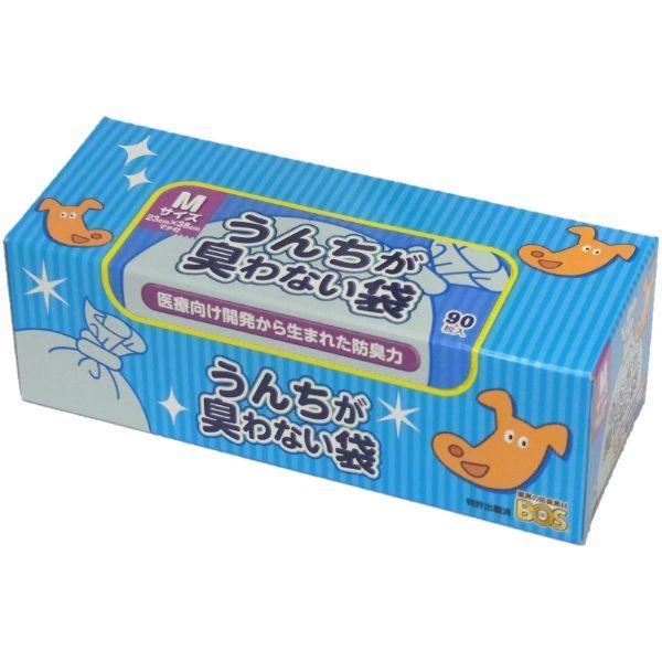 クリロン化成 うんちが臭わない袋BOSペット用箱型M90枚 犬 猫 トイレ 消臭 袋|smile1