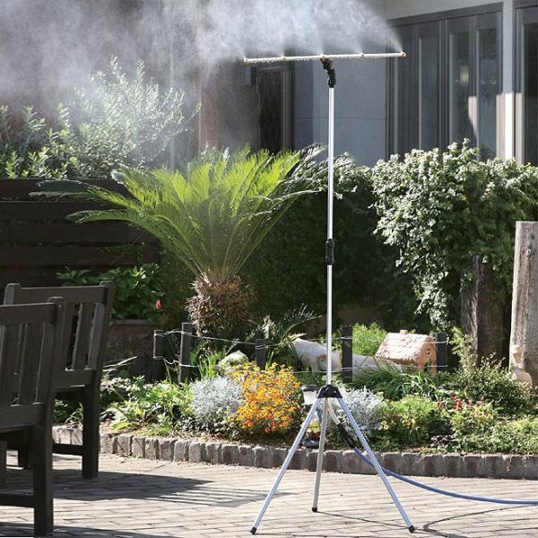 ミストdeクールシャワー スタンドタイプ ミストシャワー 屋外用 熱中症 散水機 ガーデニング 送料無料