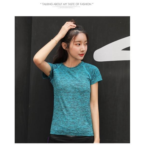 スポーツウェア レディース 速乾シャツ Tシャツ ヨガ マラソン ジム フィットネス|smilegirls|16