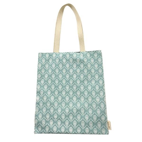 送料無料 トートバッグ ブルー キャンバスバッグ 布バッグ ショッピングバッグ エコバッグ|smileme|02