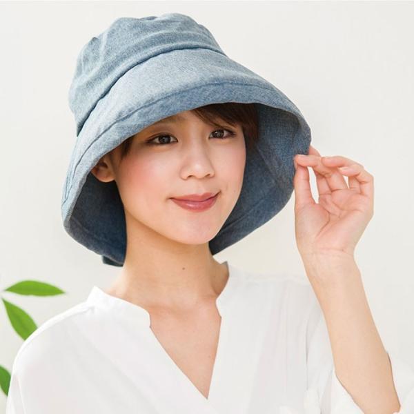 帽子 レディース 夏 つば広 大きいサイズ 折りたたみ 紫外線 96% 98% UV 女優帽 登山 アウトドア コンパクト smileme 03
