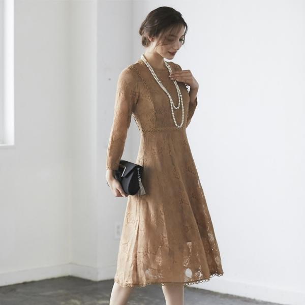 ワンピース パーティードレス ドレス レース 結婚式 yimo16658|smileorchid|12