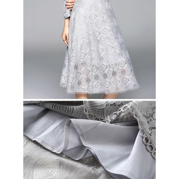 ワンピース パーティードレス ドレス レース 結婚式 yimo16658|smileorchid|07