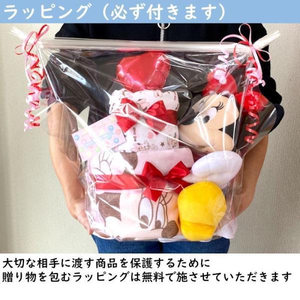 おむつケーキ ディズニー ミニーマウス 出産祝い バルーン オムツケーキ 男 女 ミッキー ミニー 名入れ|smilepoppop|07