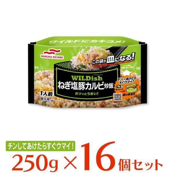冷凍食品 炒飯 マルハニチロ WILDishねぎ塩豚カルビ炒飯 250g×16袋 | ワイルディッシュ