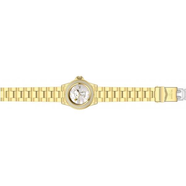 Invicta インビクタ 腕時計 女性用 24809 スヌーピー クリスタルストーンベゼル ゴールドウォッチ
