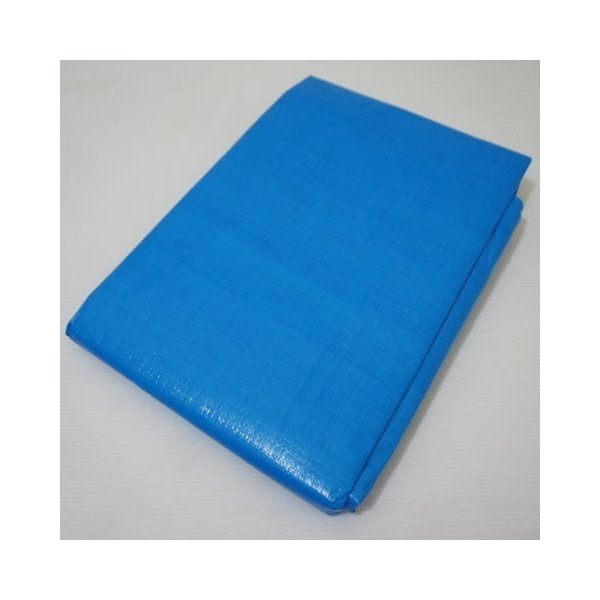 ブルーシート 3000 厚手 14枚セット 規格2.7m×5.4m (1.5間×3間) 実寸 約2.55m×5.3m ハトメ数18 防水 水濡れ防止 雨漏 雨除 野積み 養生 保護 保管