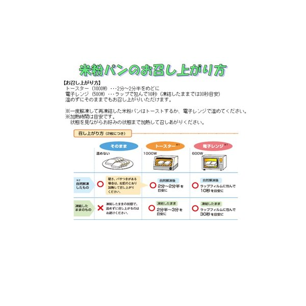 まぁるいこめ粉パン(冷凍)アレルギー対応グルテンフリー smiley-club2 05