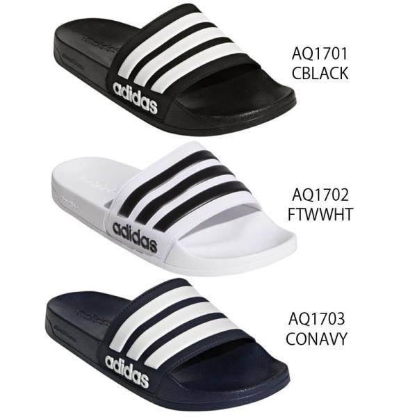 アディダス adidas シャワーサンダル メンズ レディース AQ1701 AQ1702 AQ1703 CF アディレッタ スポーツサンダル コンフォートサンダル ペタンコ底|smw|02