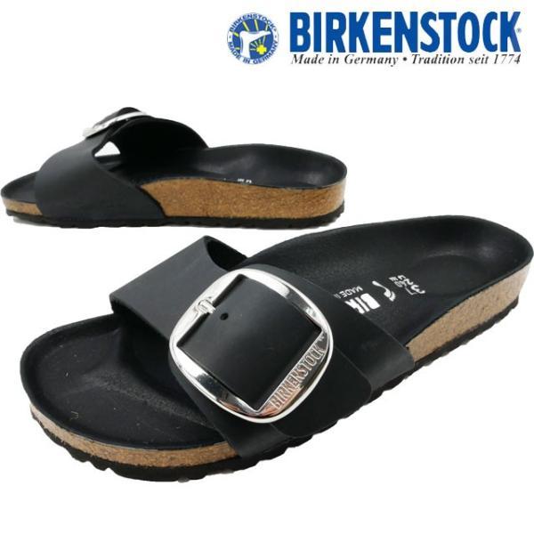 ビルケンシュトック BIRKENSTOCK マドリッド ビッグバックル サンダル レディース 1006523 黒 ブラック ワンベルト ナロー幅