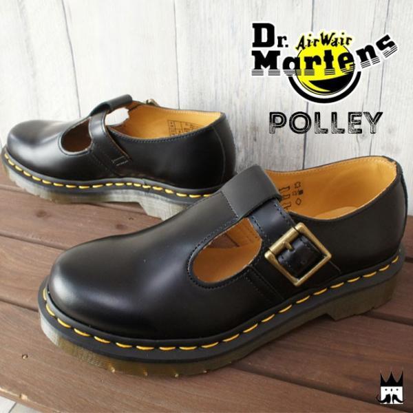ドクターマーチン Dr.Martensメンズ レディース 14852001 POLLEY T-BAR SHOE ポーリー Tバーシューズ Tストラップ メリージェーン ストラップシューズ