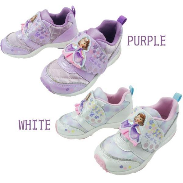 ちいさなプリンセス ソフィア キッズ 女の子 スニーカー 子供靴 DN C1218 パープル ホワイト 通園 ディズニー Disney ムーンスター MoonStar smw 02