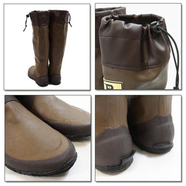 日本野鳥の会 レインブーツ 梅雨 バードウォッチング 長靴 折りたたみ BROWN ブラウン  bw-47922|snb-shop|02