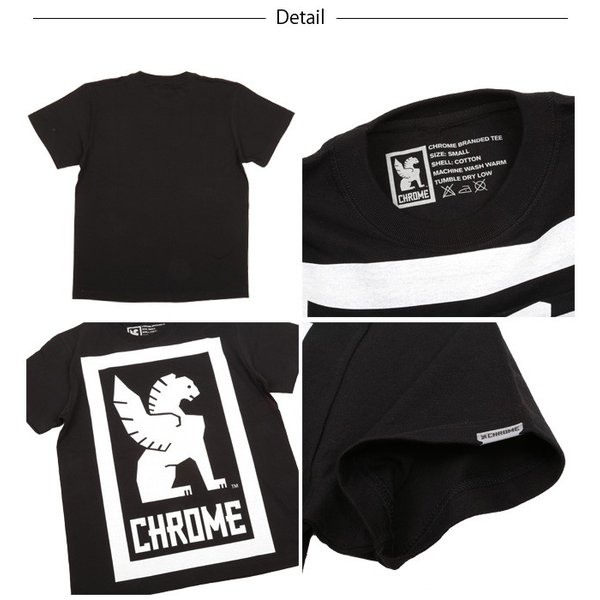 CHROME クローム Tシャツ BIG LOCKUP TEE(ビッグロックアップTEE) JP044 【服】【t-cnr】ファッション アウトドア フェス【メール便・代引不可】|snb-shop|03