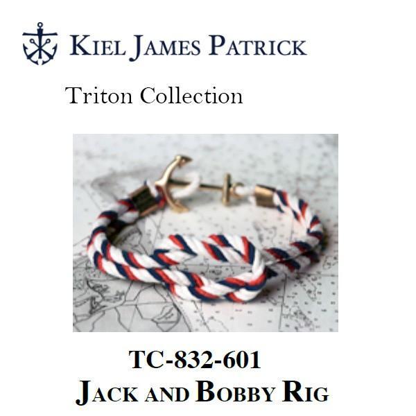 キールジェイムスパトリック KIEL JAMES PATRICK ロープ ブレスレット Triton Collection RD/WHT/NVY TC-832-601【メール便・代引不可】