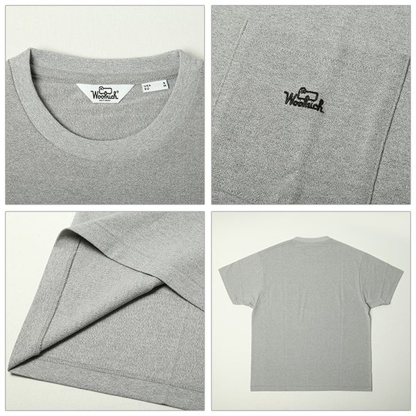 WOOL RICH ウールリッチ C/N ROUND BODY EMBROIDERY TEE NOTEE1932 【Tシャツ/トップス/ポケット/アウトドア】|snb-shop|02