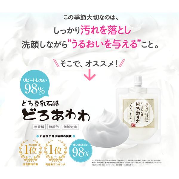 どろあわわ 洗顔 泡 泡洗顔 110g 2個セット 健康コーポレーション|snc|05