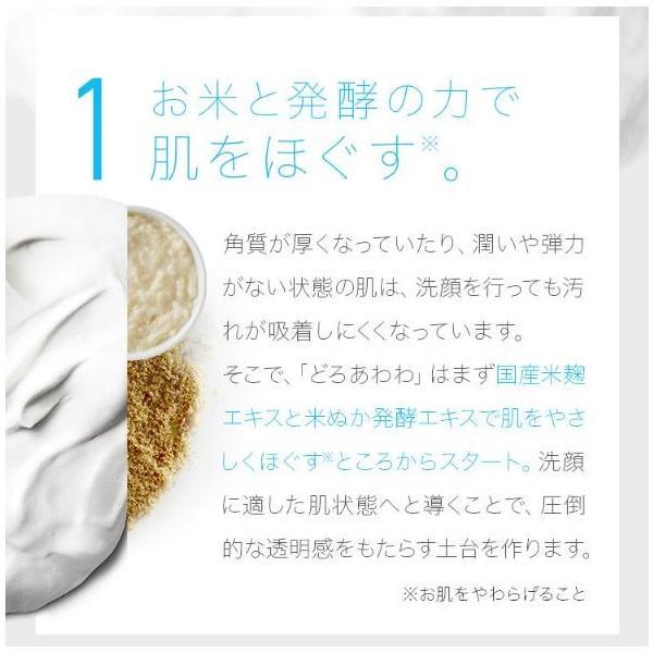 どろあわわ 新 3個セット 洗顔 泡 泡洗顔 110g 泡立てネット 付き 健康コーポレーション|snc|09