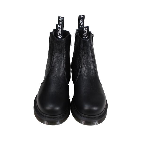 ドクターマーチン 2976 チェルシーブーツ レディース メンズ Dr.Martens WOMENS ZIP CHELSEA BOOT ブラック R22133001