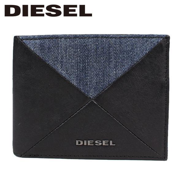 9436412cb4f1 DIESEL ディーゼル 財布 二つ折り メンズ レディース デニム NEELA S X05045 PS778 ブラック|sneak ...