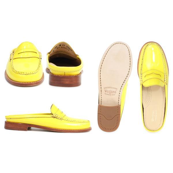 G.H. BASS ローファー ジーエイチバス レディース サンダル スリッパ バブーシュ WYNN PATENT LEATHER MULE WEEJUNS 71-22853 靴 イエロー