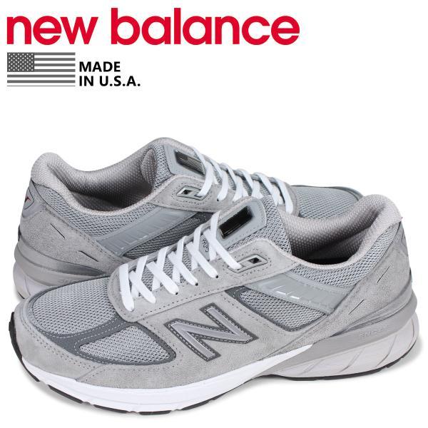c4cd0a6a13285 ニューバランス new balance スニーカー メンズ Dワイズ MADE IN USA グレー M990GL5 6/18 再