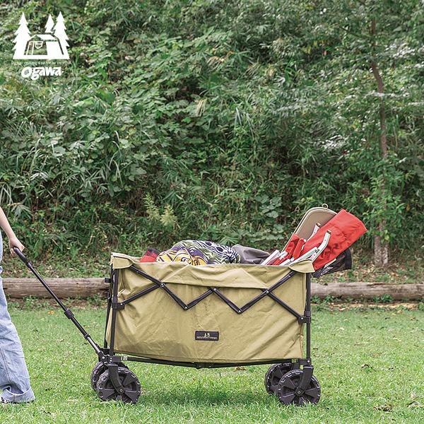 ogawa オガワ ディープキャリーワゴン キャリーカート アウトドアワゴン 折りたたみ 耐荷重80kg キャンプ 収納 簡単 台車 持ち運び