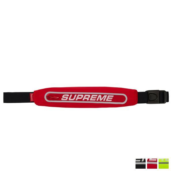 シュプリーム Supreme バッグ ウエストバッグ ウエストポーチ メンズ レディース RUNNING WAIST BAG ブラック レッド イエロー 黒