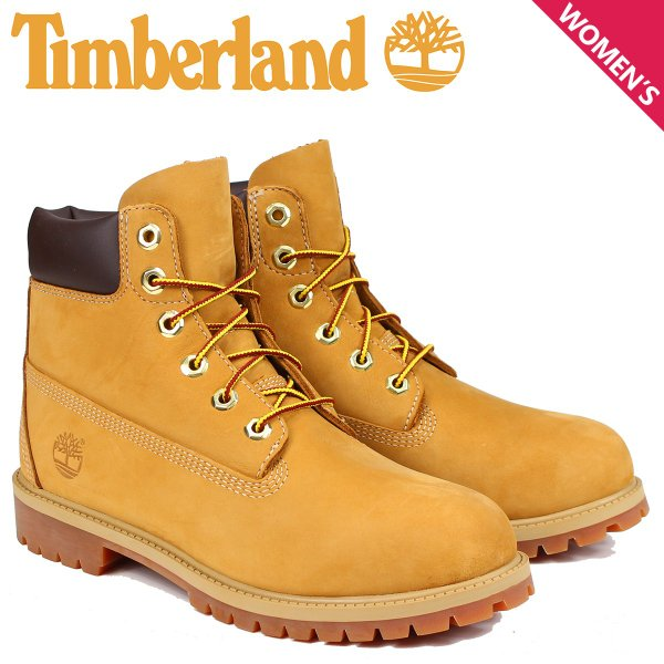 Timberland JUNIOR 6INCH PREMIUM WATERPROOF BOOTS ティンバーランド ブーツ レディース 6インチ プレミアム イエロー 12909|sneak