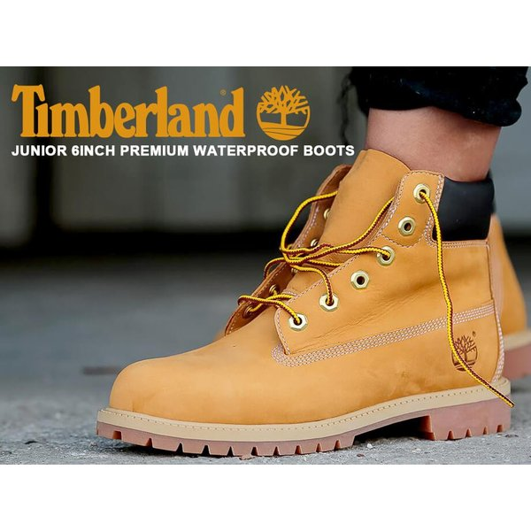 Timberland JUNIOR 6INCH PREMIUM WATERPROOF BOOTS ティンバーランド ブーツ レディース 6インチ プレミアム イエロー 12909|sneak|07