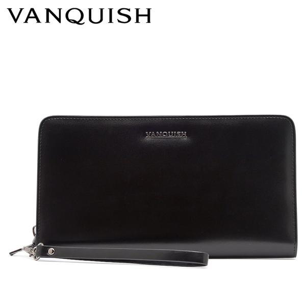ヴァンキッシュ VANQUISH パスポートケース パスケース カードケース メンズ ラウンドファスナー 本革 PASSPORT CASE VQM-41230