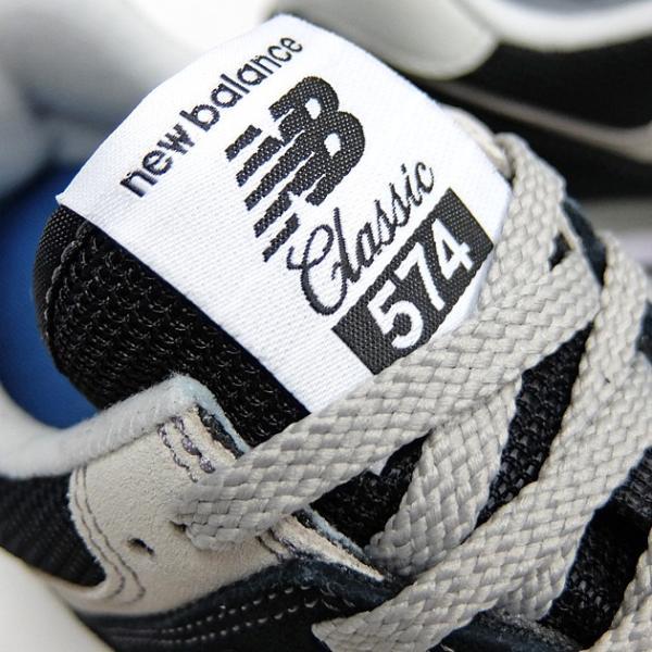 ニューバランス 574 メンズ レディース スニーカー NEW BALANCE ML574 BLACK ML574EGK 黒 ブラック スエード ランニングシューズ M574|sneaker-bouz|03