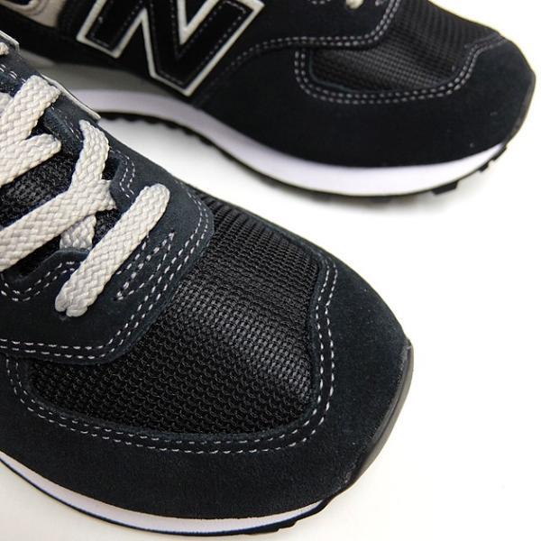 ニューバランス 574 メンズ レディース スニーカー NEW BALANCE ML574 BLACK ML574EGK 黒 ブラック スエード ランニングシューズ M574|sneaker-bouz|05