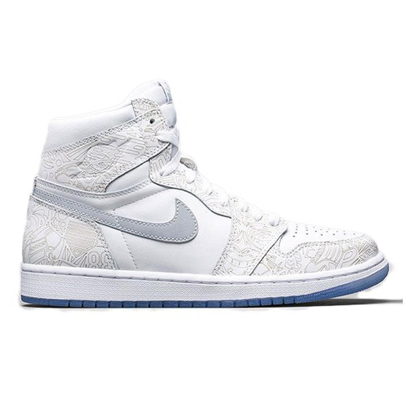 NIKE AIR JORDAN 1 RETRO HIGH OG LASER WHITE/METALLIC SILVER|sneaker-shop-link
