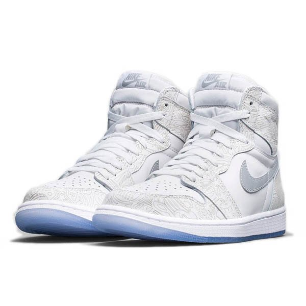 NIKE AIR JORDAN 1 RETRO HIGH OG LASER WHITE/METALLIC SILVER|sneaker-shop-link|02